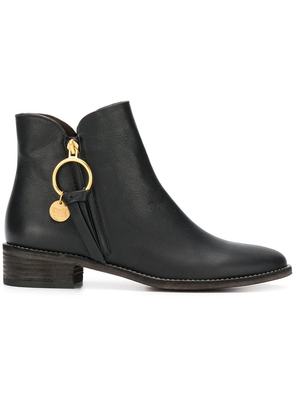 813399e93 See By Chloé Louise flat ankle boots - Black in 2019   Products ...