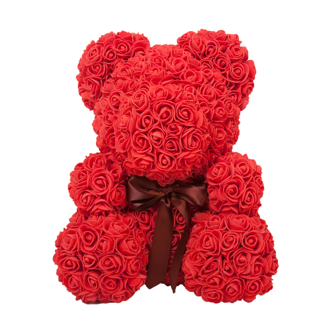 2019 Flower Teddy Bear 24hrs Shipping Perfect Valentine Gift
