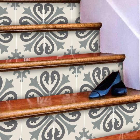 stair risers quadrostyle stair riser vinyl stair on wall stickers for hall id=55290