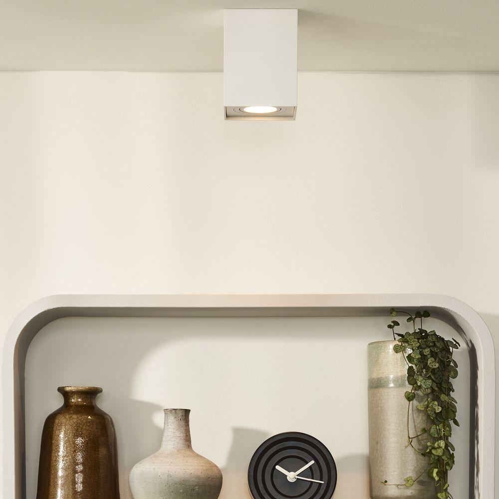 LED Decken Lampe Ein Aufbau Strahler Wohn Zimmer Beleuchtung ALU Leuchte weiß
