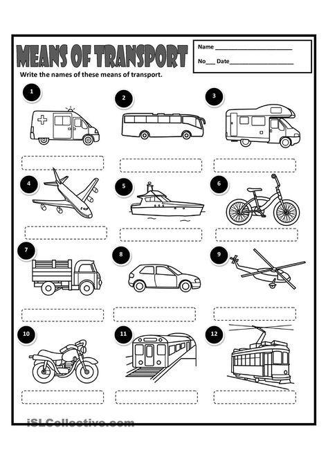 means of transport drawings transportation activities spanish worksheets transportation. Black Bedroom Furniture Sets. Home Design Ideas