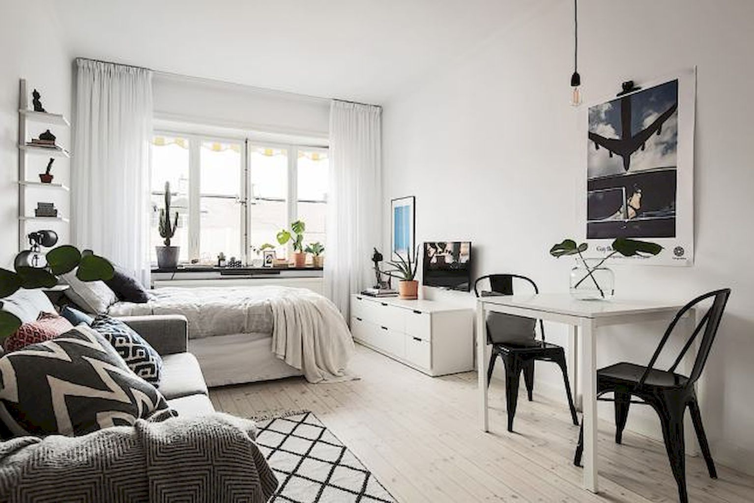 60 Cool Studio Apartment With Scandinavian Style Ideas On A Budget 60 Small Apartment Bedrooms Apartment Decor Inspiration Apartment Bedroom Decor