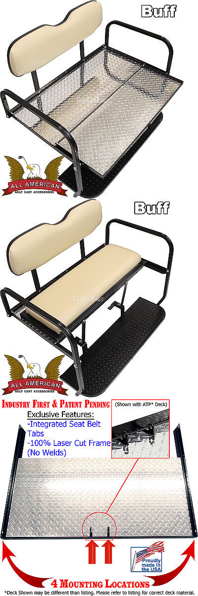 Push-Pull Golf Carts 75207: Club Car Ds (1982-Up) Golf Cart All American™ Rear Flip Seat Kit - Atp Deck -> BUY IT NOW ONLY: $269 on eBay!