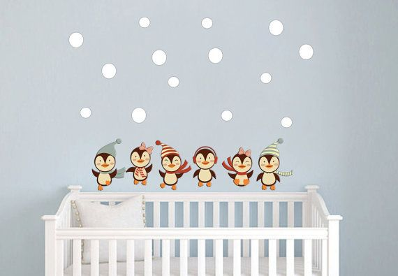 Nursery Penguins Wall Decals Nursery Baby Girl/Boy by StyleAwall $49.99  sc 1 st  Pinterest & Nursery Penguins Wall Decals Nursery Baby Girl/Boy Wall Stickers ...