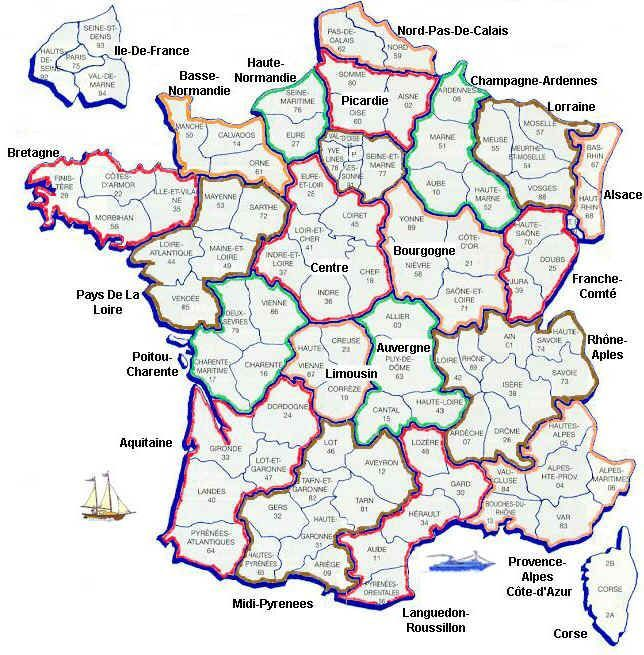 Image result for map of france and its regions Maps of France