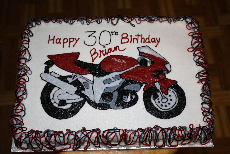 Fabulous Suzuki Motorcycle Cake Motorcycle Cake Motorcycle Party Personalised Birthday Cards Epsylily Jamesorg