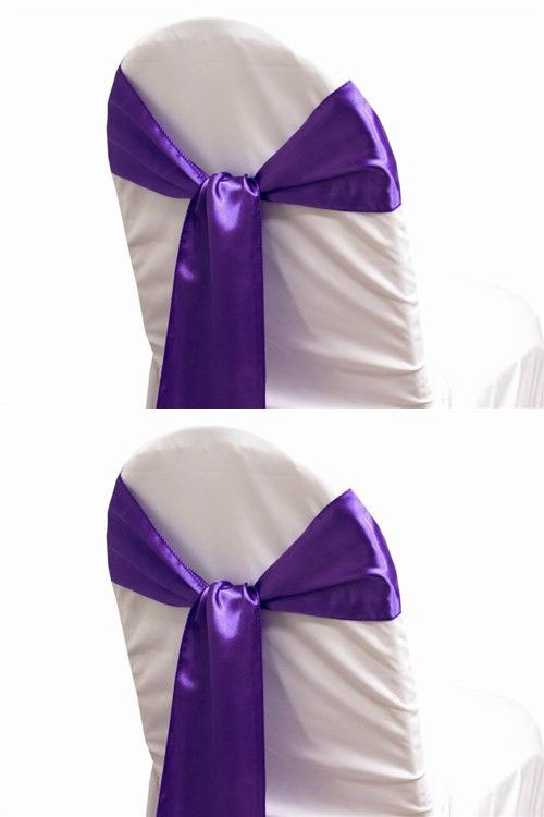 mds pack of 50 satin chair sashes bow sash for wedding and events