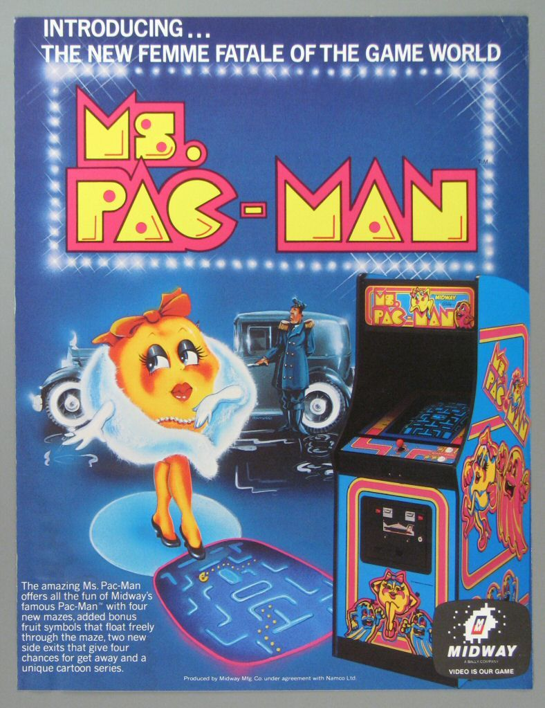 Ms Pacman Flyer 70s 80 S Arcade Pinterest Ps4 Juegos And