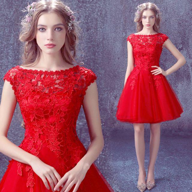 caa9e52582 7187 envío gratis 2016 nuevo llegan rojo sexo encaje vestido corto de baile  vestido barato para graduación envío rápido