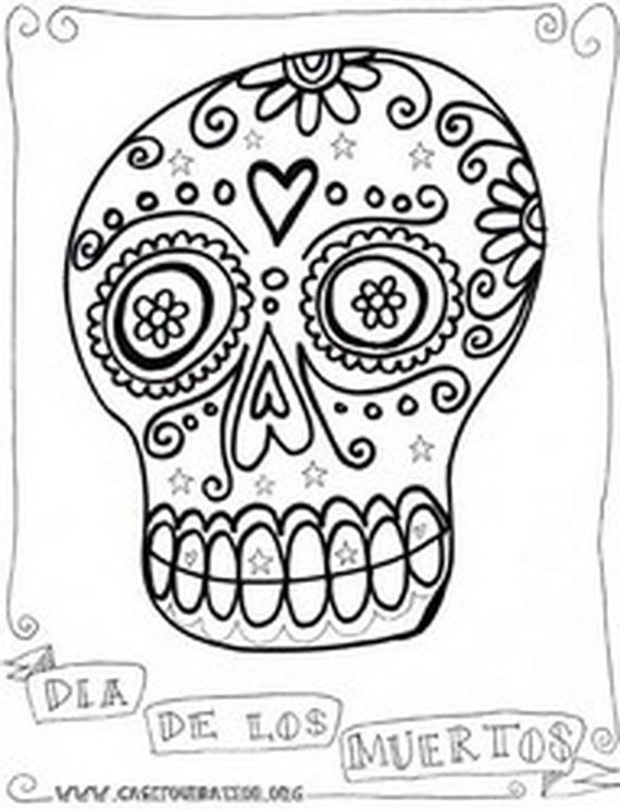 day of the dead coloring and craft activities  los