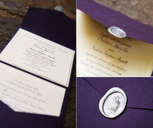 ホグワーツの入学案内風の結婚招待状
