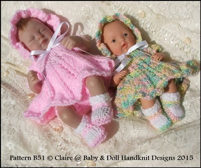 "2d44492fd Petal Skirt Dress Set 7-12"" doll-knitting pattern"