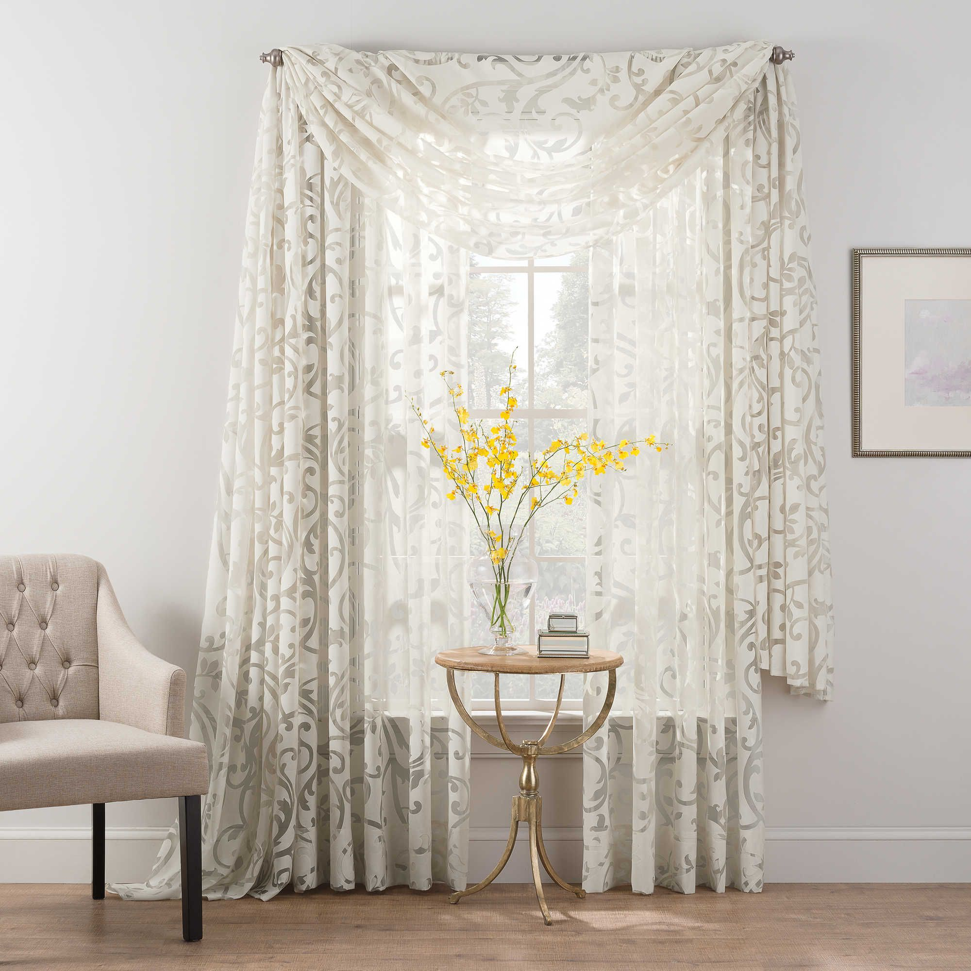 sheer product voile home and curtains crushed garden shipping with piece panel today aurora free match overstock set blackout mix curtain