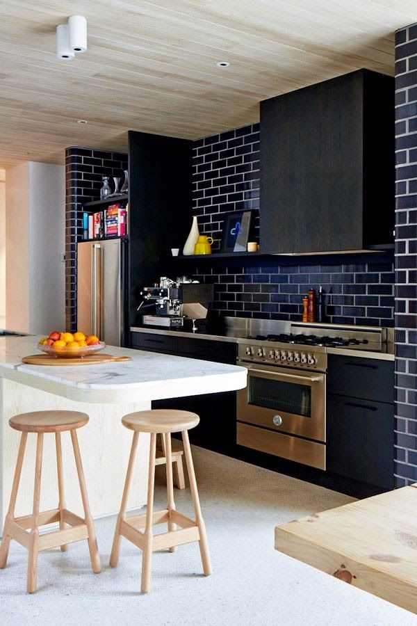 COCINAS NEGRAS, elegantes, clásicas, modernas, grandes, pequeñas y - cocinas grandes de lujo