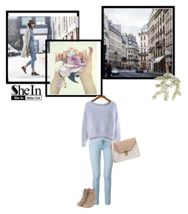 """Shein Light Purple Sweater"" by bethers18 ❤ liked on Polyvore featuring Frame Denim, 8, women's clothing, women, female, woman, misses and juniors"