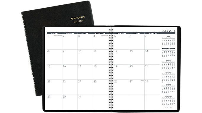Large Academic Monthly Planner 70074 At A Planners Monthly