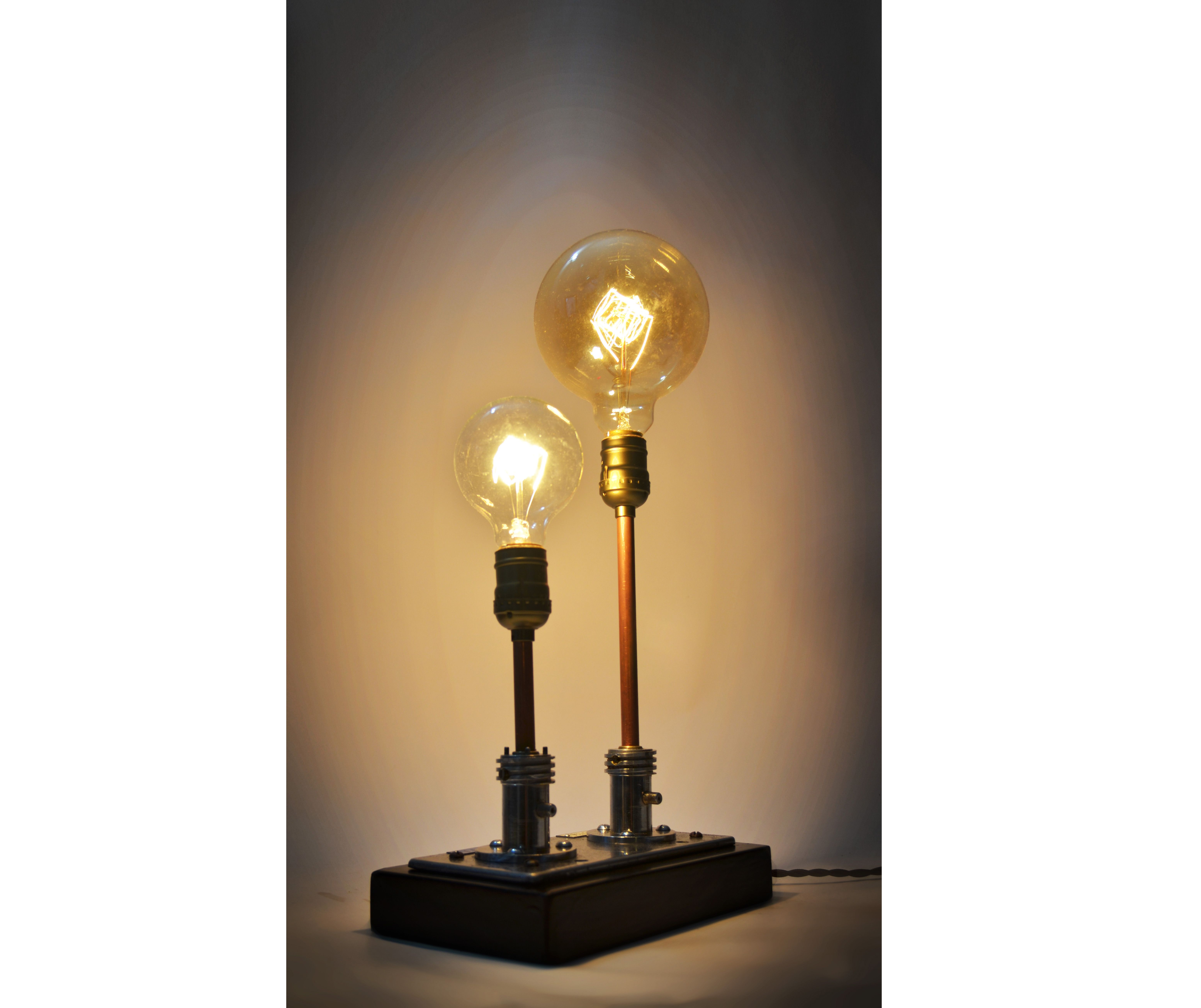 Steampunk Table Lamp Made From Vintage Medical Plugs Id Lights Steampunk Table Lamp Steampunk Table Vintage Lamps