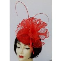 Red Butterfly Fascinator For The Derby Or Just Fun By Hat A Tude