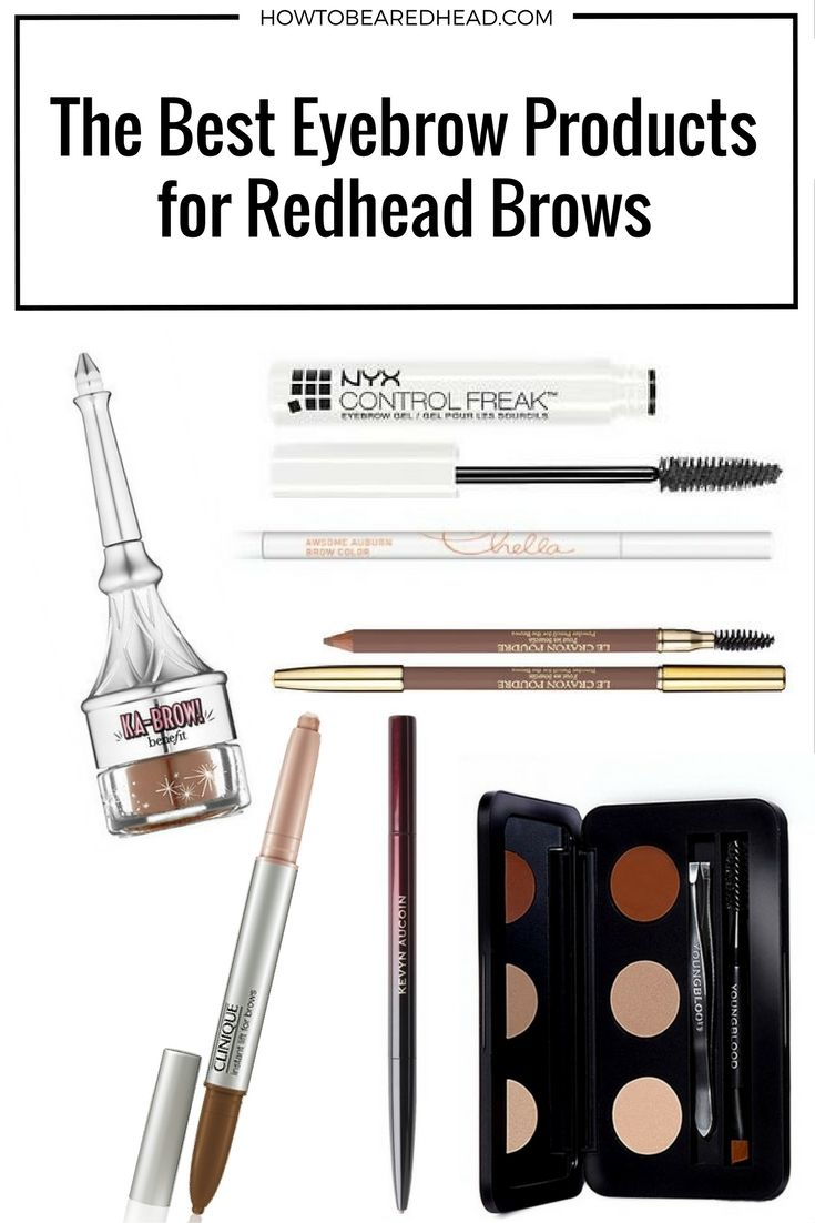 The Best Eyebrow Products for Redhead Brows | The secret products for the  perfect #redheadeyebrows