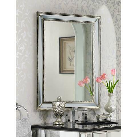 Beaded Wall Mirror, 30 X 40 Framed Bathroom Mirror