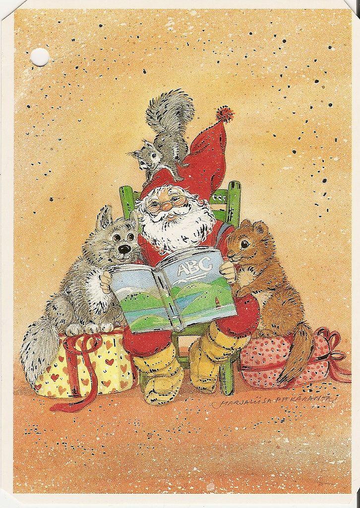 a postcard from Finland, illustration by Marja-liisa Pitkäranta