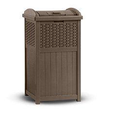 Suncast Wicker 30 Gallon Trash Hideaway Buy This At Costco Much Better Price Outdoor Wicker Wicker Patio Furniture Resin Wicker