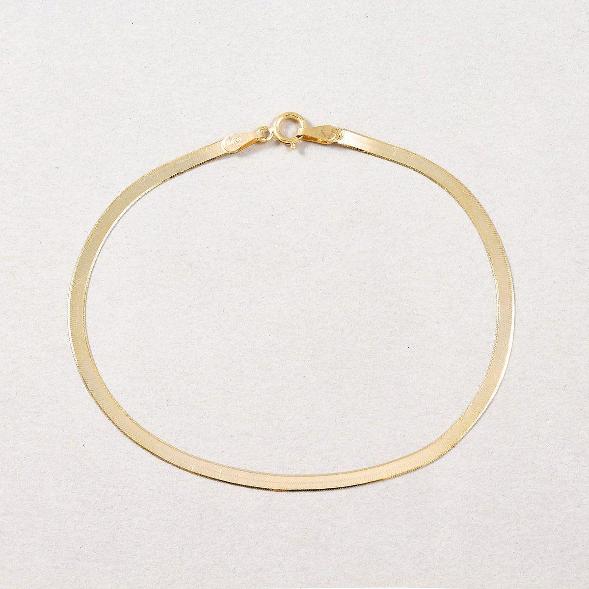 Herringbone Bracelet In 2020 Bracelets Herringbone Necklace 10kt Gold