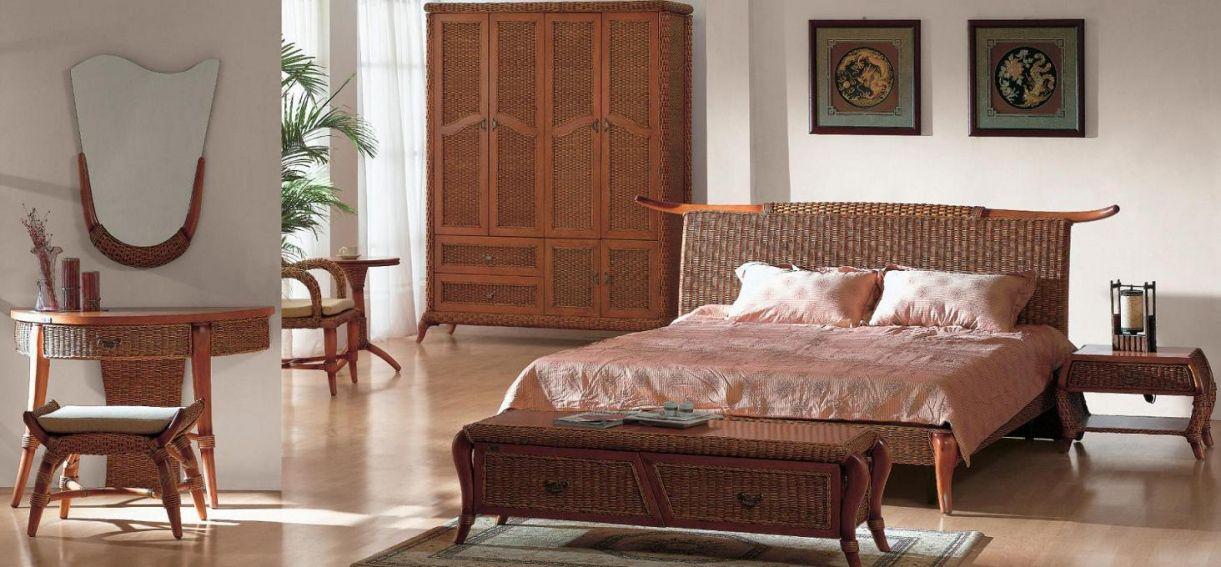 Wicker Rattan Bedroom Furniture - Master Bedroom Interior Design ...