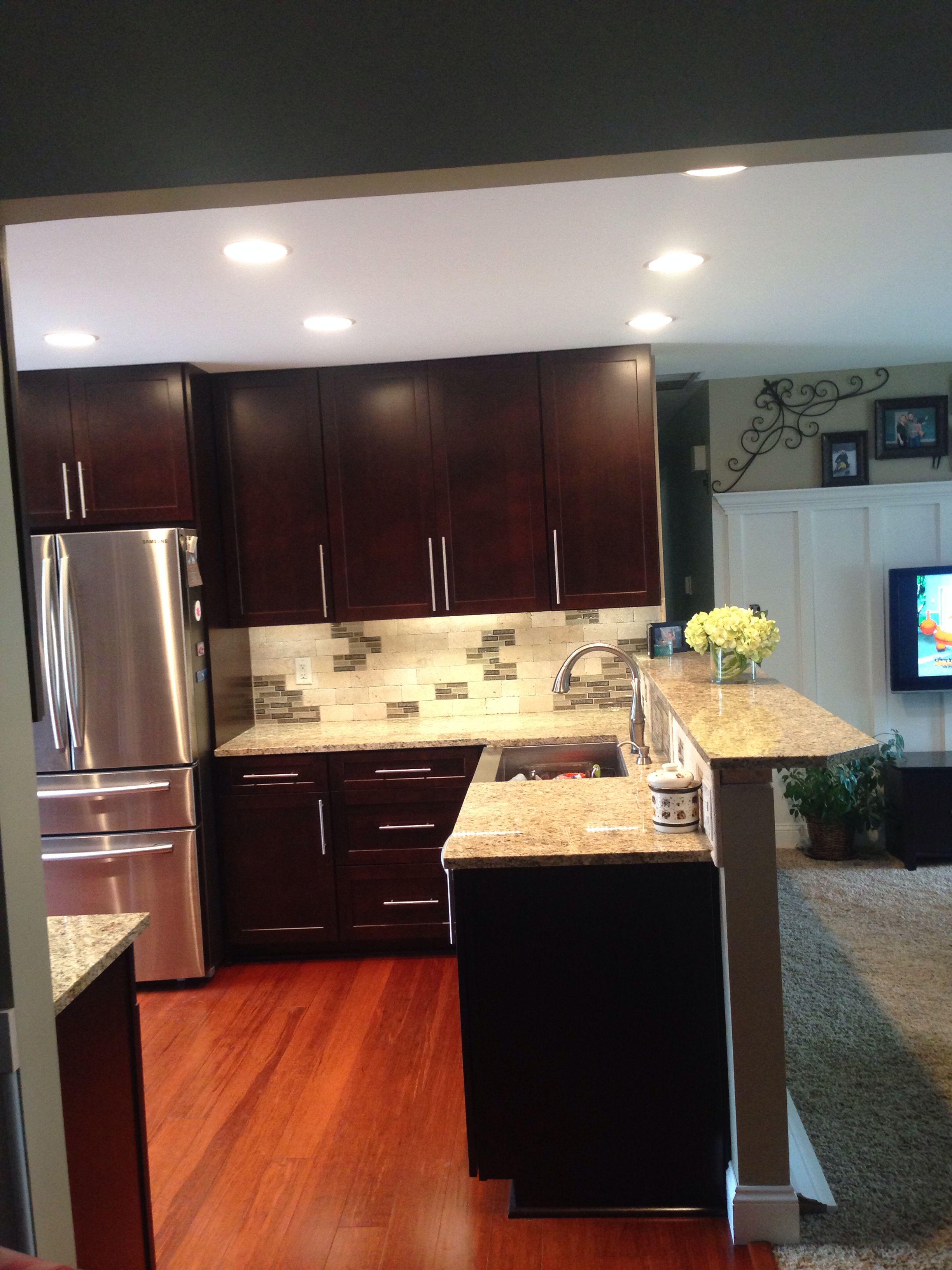 shenandoah cabinets style breckinridge in cherry java housestuff kitchen interior kitchen on kitchen cabinets java id=23169