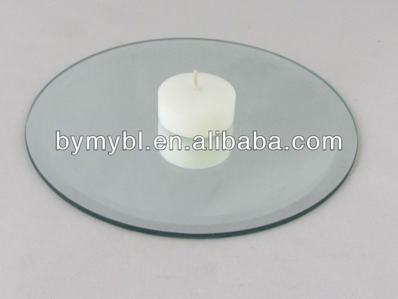 Round Mirror Candle Plate Adhesive Mirror Tiles Hp Indigo Press Wholesale Unframed Mirrors Mirror Candle Plate Candle Plate Mirror Tiles