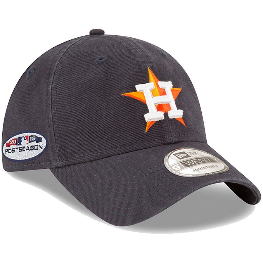1345b501f64dd Men s Houston Astros New Era Navy 2018 Post Season Side Patch 9TWENTY  Adjustable Hat