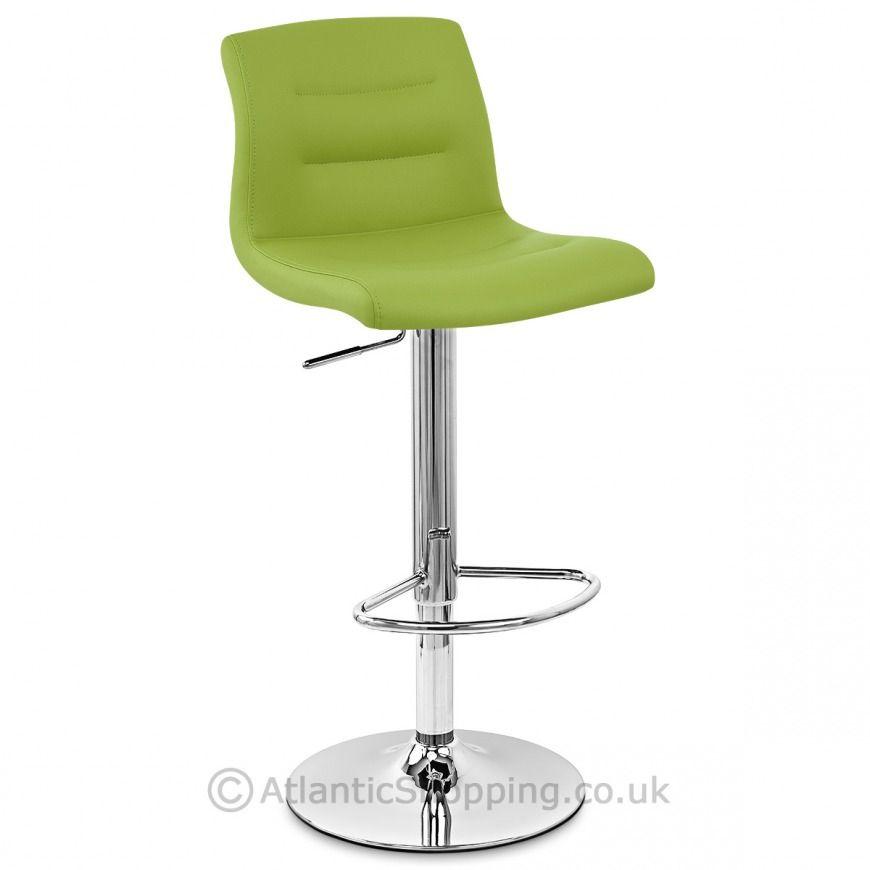 Paradis Bar Stool Green Bar Stools Stool Leather Seat Lime green bar stool