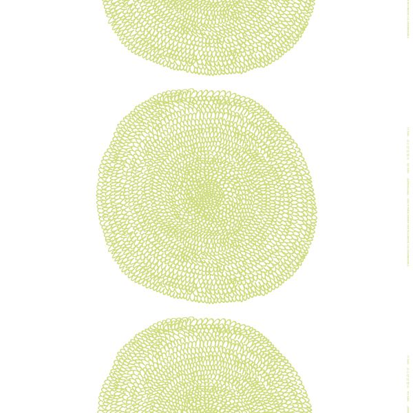 Cute tablecloth from Marimekko's Pippurikerä fabric in lime green