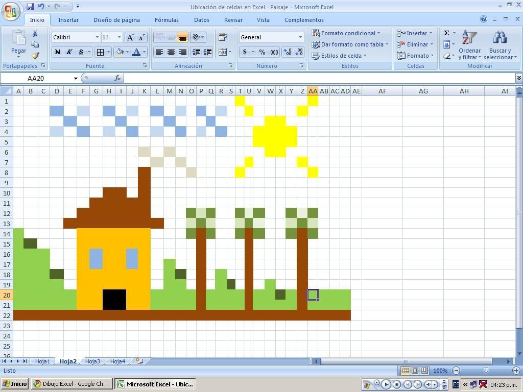Resultado De Imagen Para Dibujos Coloreando Celdas Microsoft Excel Colores Dibujos