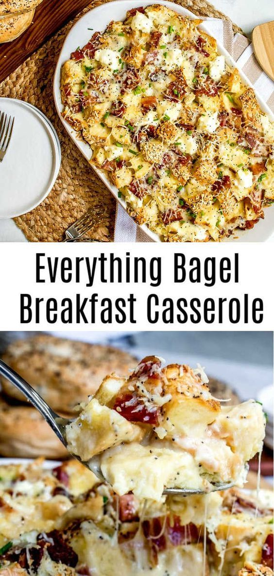 Everything Bagel Make Ahead Breakfast Casserole images