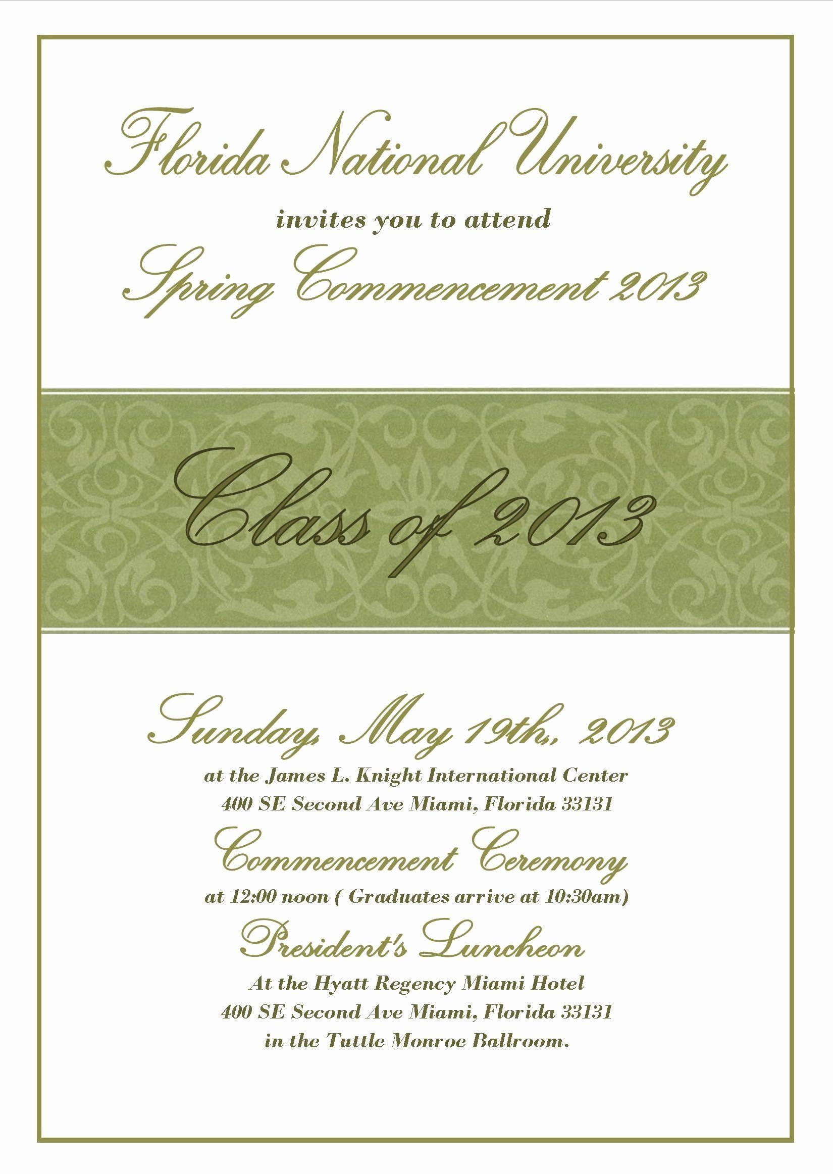 Examples Of Graduation Announcements Unique University Mencement In 2020 Graduation Invitation Wording Graduation Party Invitations Templates Invitation Templates Word