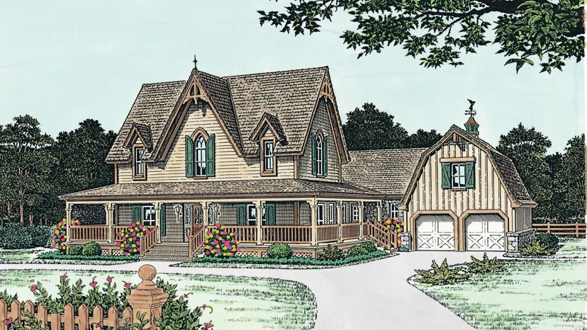 Gothic Revival Style Home Designs From Homeplans Com Craftsman Style House Plans Victorian House Plans Farmhouse Plans