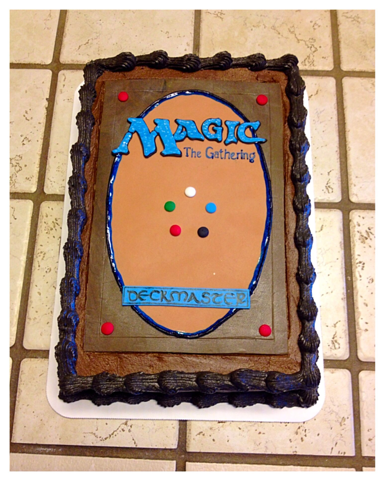 "A ""Magic The Gathering"" Sheet Cake :)"