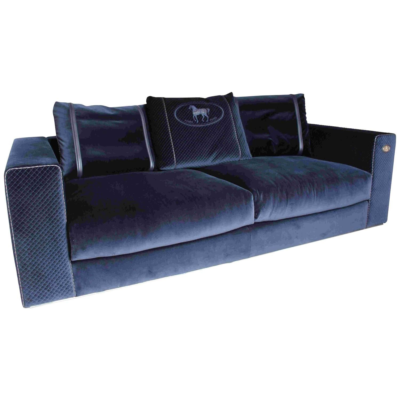 Dark Blue Sofa Longchamp Glamour By Fendi Casa