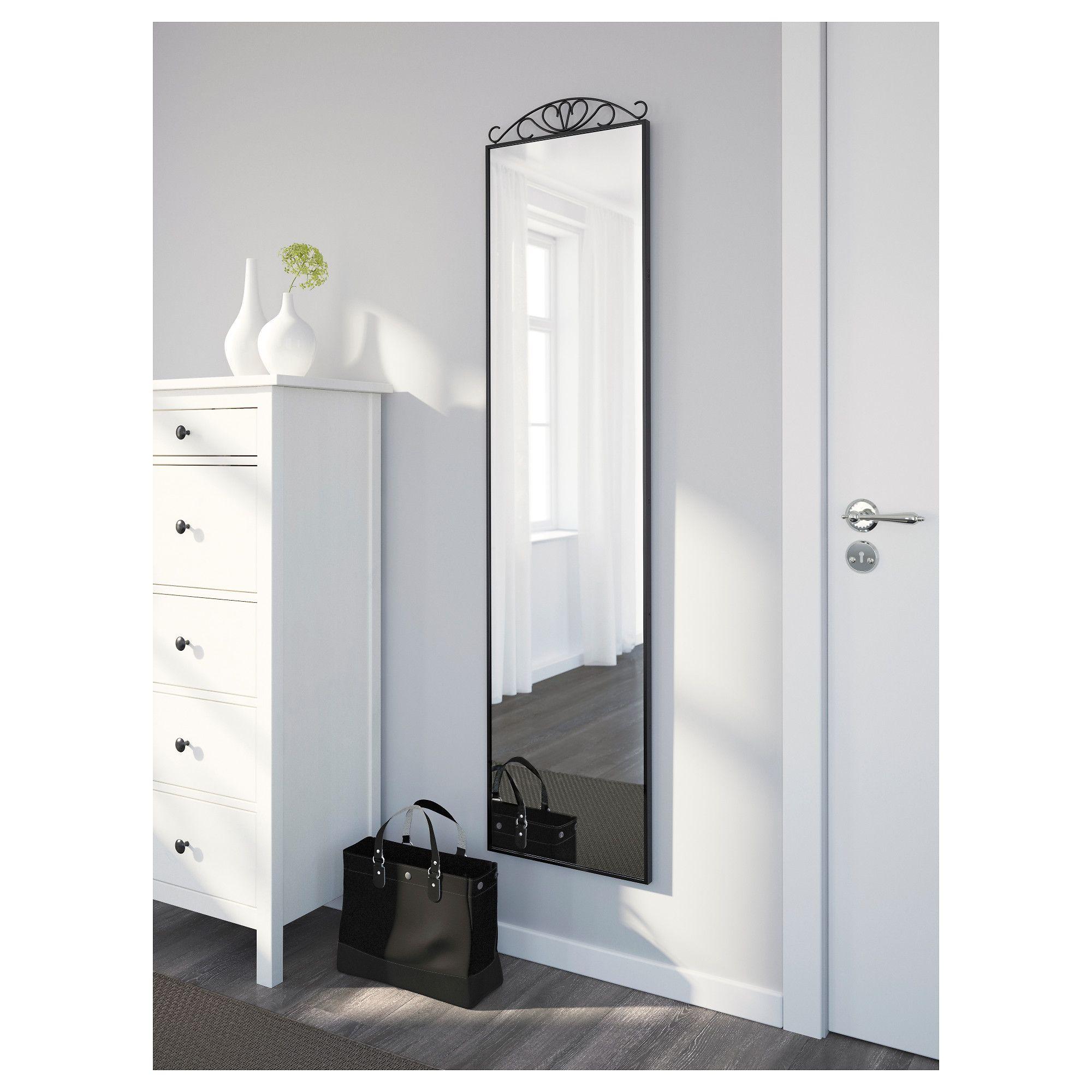 Karmsund Standing Mirror Black 40x167 Cm Ikea