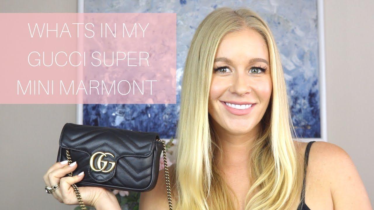 What S In My Bag Gucci Super Mini Marmont Quick Review Super Mini What In My Bag Mini