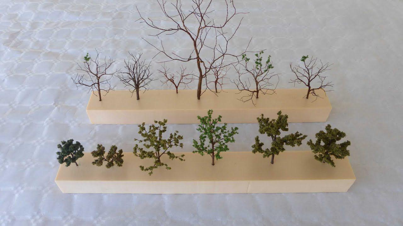 Cómo hacer árboles para maquetas - How to make a tree for models ...