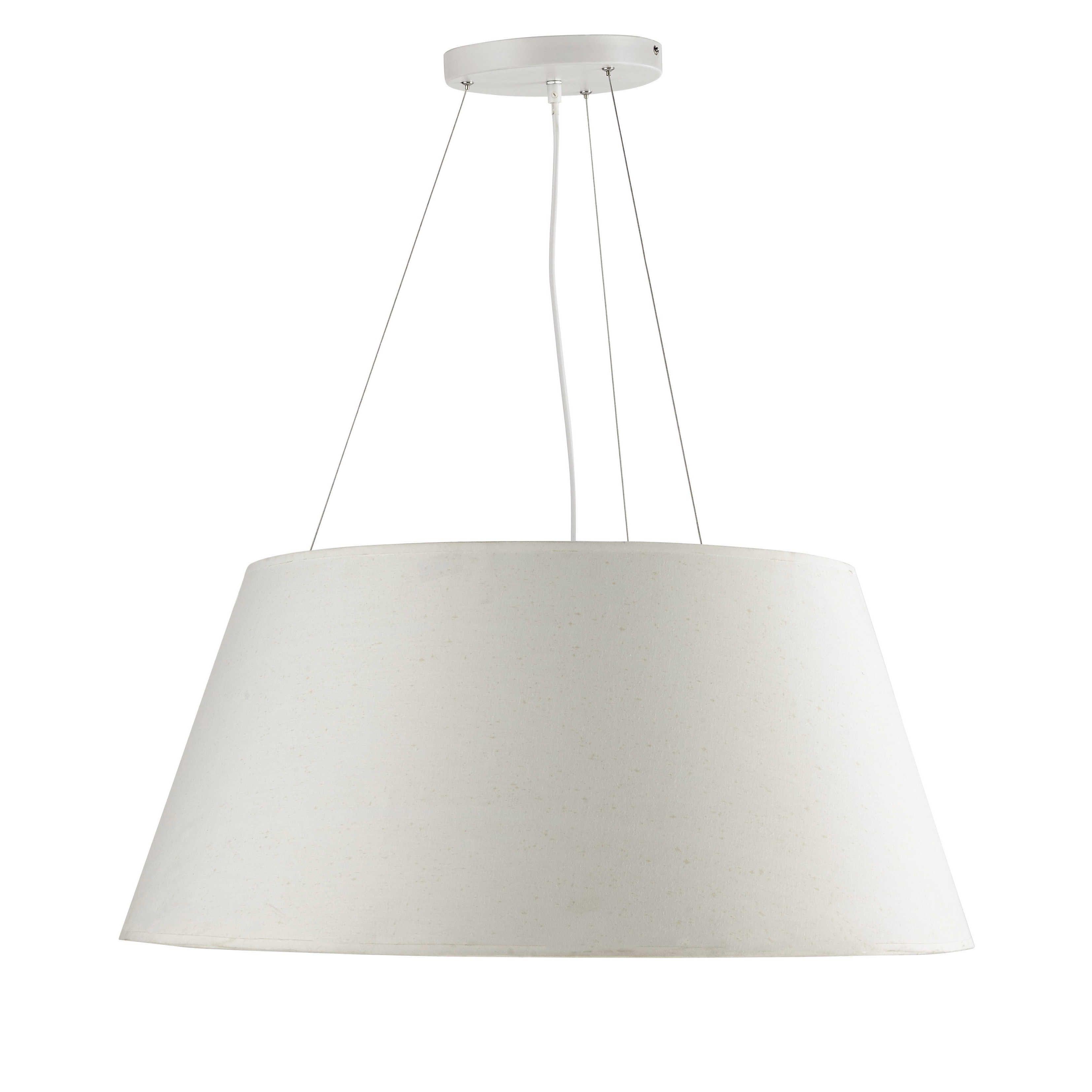 Suspension en coton blanche D 75 cm LISON | Luminaires | Pinterest