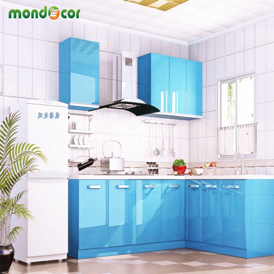 Comprar nueva glossy pvc impermeable papel pintado auto adhesivo para mueble de Papel pintado adhesivo para muebles