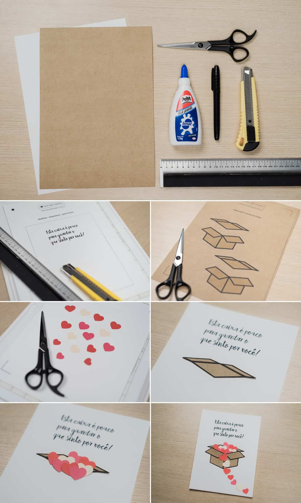 Ideias De Cartoes Criativos Para O Dia Dos Namorados Passo A