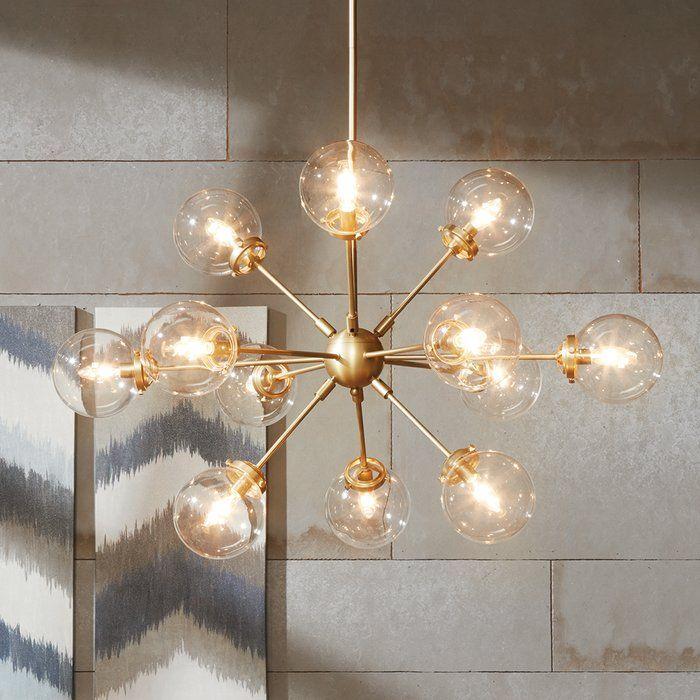 Modern Rustic Interiors Asher 12 Light Sputnik Chandelier