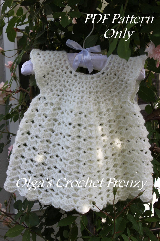 Vestidos hechos a crochet para bebe