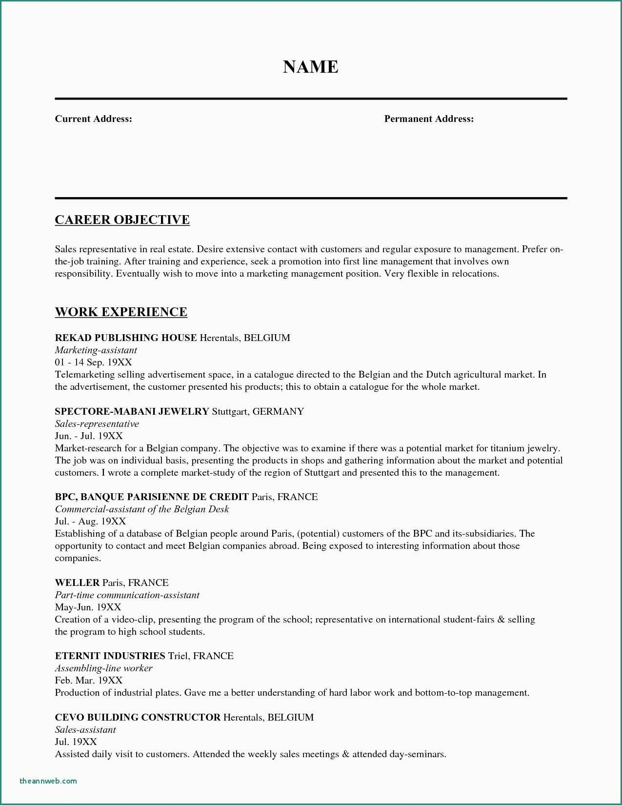 79 Luxury Collection Of Sample Resume For Nurses Going Abroad
