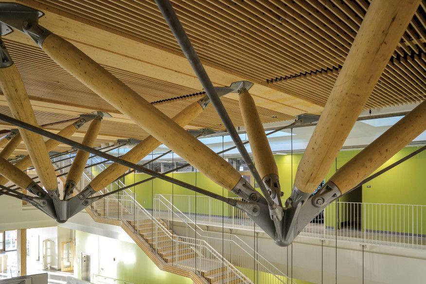 Umass Amherst Design Building Zipper Trusses Architecture
