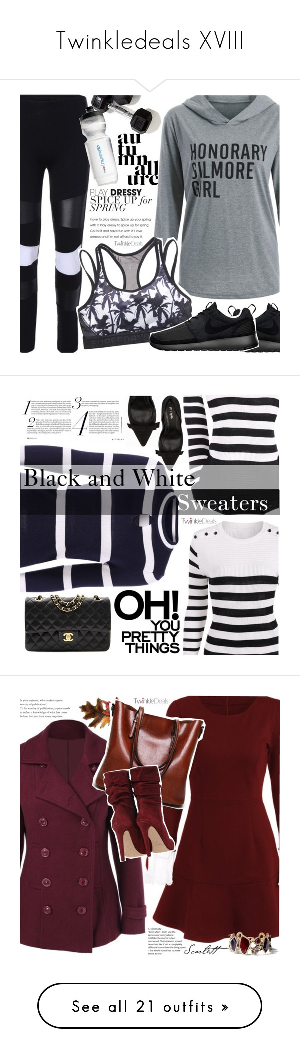 """""""Twinkledeals XVIII"""" by vanjazivadinovic ❤ liked on Polyvore featuring twinkledeals, Superdry, NIKE, polyvoreeditorial, Nly Shoes, Chanel, Anne Klein, Chloe + Isabel, vintage and Kershaw"""